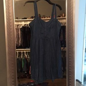 Jean dress with bustier front